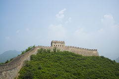 Azië China, Peking, historische gebouwen, de Grote Muur Juyongguan, Horlogetoren, Bakentoren Royalty-vrije Stock Foto's