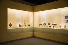 Azië China, Peking, hoofdmuseum, binnentoonzaal, Jadegravure royalty-vrije stock foto