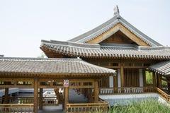 Azië China, Peking, iepdorp, park, tuin architectureï ¼ ŒPavilions, terrassen en open zalen stock foto's