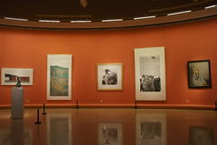 In Azië, China, Peking, kunstmuseum, de lay-out van de tentoonstellingszaal, binnenlands ontwerp Royalty-vrije Stock Fotografie