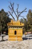 Azië China, Peking, Ming Dynasty Tombs, het FORNUIS ŒBURNING van Changling Mausoleumï ¼ stock afbeelding