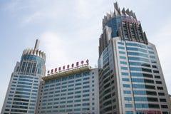Azië China, Peking, moderne architectuur, Internationaal de Technologieovereenkomst van China en Tentoonstellingscentrum Stock Fotografie