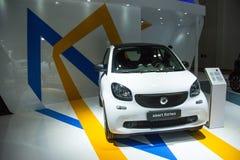Azië China, Peking, Nationaal Convention Center, voert Autoexpo in Stock Fotografie