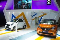 Azië China, Peking, Nationaal Convention Center, voert Autoexpo in Stock Foto