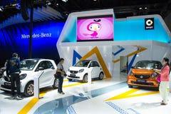Azië China, Peking, Nationaal Convention Center, voert Autoexpo in Stock Afbeelding