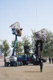 In Azië, China, Peking, Olympisch Park, de spin, de Franse mechanische parade Royalty-vrije Stock Foto