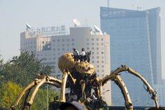 In Azië, China, Peking, Olympisch Park, de spin, de Franse mechanische parade Stock Foto