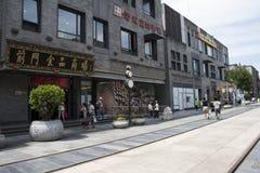 Azië, China, Peking, Qianmen-Straat, commerciële straat, gangstraat Royalty-vrije Stock Afbeeldingen