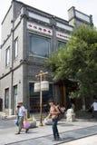 Azië, China, Peking, Qianmen-Straat, commerciële straat, gangstraat Stock Foto