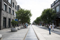 Azië, China, Peking, Qianmen-Straat, commerciële straat, gangstraat Stock Fotografie