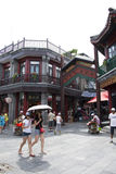 Azië, China, Peking, Qianmen-Straat, commerciële straat, gangstraat Royalty-vrije Stock Foto
