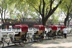Azië, China, Peking, Shichahai, Hutong-reis, driewieler, riksja Stock Foto's