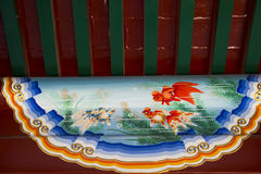 Azië China, Peking, Taoranting-Park, Traditionele paintingï ¼ Œ Stock Afbeelding