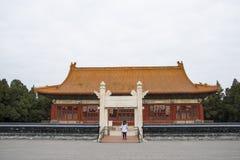 Azië China, Peking, Zhongshan-Park, hij geschiedenis van het gebouw, Zhongshan-zaal, lingxingmeng Stock Afbeelding