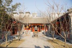 Azië China, Peking, Zizhuyuan-Park, Landschapsarchitectuur, binnenplaats Stock Fotografie
