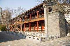 Azië China, Peking, Zizhuyuan-Park, Landschapsarchitectuur, paviljoen Royalty-vrije Stock Afbeelding