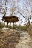 Azië China, Peking, Zizhuyuan-Park, Landschapsarchitectuur, Paviljoen, Stock Foto's