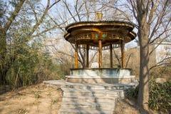 Azië China, Peking, Zizhuyuan-Park, Landschapsarchitectuur, Paviljoen, Royalty-vrije Stock Afbeelding