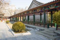 Azië China, Peking, Zizhuyuan-Park, Landschapsarchitectuur, Paviljoen, Galerij Stock Fotografie