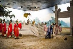 Azië China, waxwork Palaceï ¼ ŒHistorical van Peking Minghuang en cultureel landschap van Ming Dynasty in China Royalty-vrije Stock Afbeelding