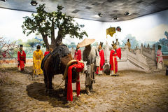 Azië China, waxwork Palaceï ¼ ŒHistorical van Peking Minghuang en cultureel landschap van Ming Dynasty in China Royalty-vrije Stock Foto's