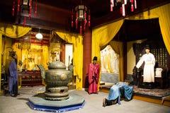 Azië China, waxwork Palaceï ¼ ŒHistorical van Peking Minghuang en cultureel landschap van Ming Dynasty in China Stock Foto's