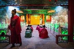 Azië China, waxwork Palaceï ¼ ŒHistorical van Peking Minghuang en cultureel landschap van Ming Dynasty in China Royalty-vrije Stock Foto