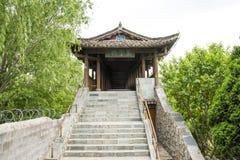 Azië Chinees, de Yuans van Peking, China Minzu, Galerij, brug, stap stock afbeelding