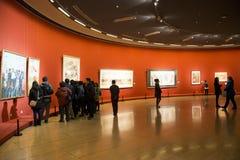 Azië Chinees, Peking, Chinees Art Museum, binnententoonstelling hallï ¼ ŒPainting exhibitionï ¼ Œ royalty-vrije stock afbeeldingen