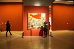 Azië Chinees, Peking, Chinees Art Museum, binnententoonstelling hallï ¼ ŒPainting exhibitionï ¼ Œ stock foto's