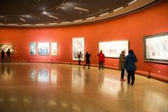 Azië Chinees, Peking, Chinees Art Museum, binnententoonstelling hallï ¼ ŒPainting exhibitionï ¼ Œ stock foto
