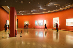 Azië Chinees, Peking, Chinees Art Museum, binnententoonstelling hallï ¼ ŒPainting exhibitionï ¼ Œ royalty-vrije stock fotografie