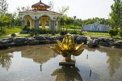 Azië Chinees, Peking, de architectuur ŒLandscape, Macao Gardenï ¼ Œpavilions, lotusbloembloem van Tuinexpoï ¼ royalty-vrije stock fotografie
