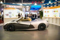 Azië, de wetenschap en de Technologieelektrische voertuigen ŒFuture, conceptenauto's van de Industrieexpoï ¼ van China Peking van Stock Fotografie