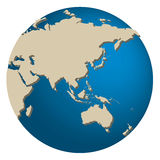 Azië en Australië Stock Afbeelding