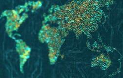 Azië en Oceanië in nadruk Stock Foto's