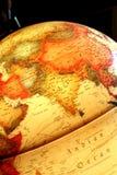 Azië op de lichtgevende bol Stock Afbeeldingen