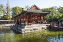 In Azië, Peking, China, historische gebouwen, het Herenhuis van PrinsGong 's stock afbeelding