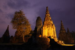 AZIË THAILAND AYUTHAYA WAT CHAI WATTANARAM Royalty-vrije Stock Foto