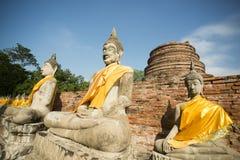 AZIË THAILAND AYUTHAYA WAT YAI CHAI MONGKHON Royalty-vrije Stock Afbeeldingen