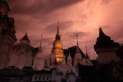 AZIË THAILAND CHIANG MAI WAT SUAN DOK Royalty-vrije Stock Foto