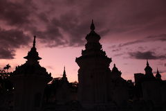 AZIË THAILAND CHIANG MAI WAT SUAN DOK Stock Fotografie