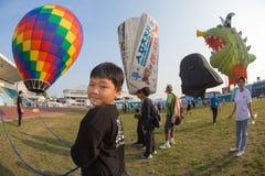 Azië Thailand onderaan een ballon Royalty-vrije Stock Fotografie