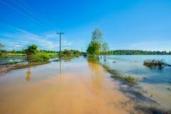 Azië, Vloed, Moesson, de Provincie van Nakhon Ratchasima, Natuurlijke Disast royalty-vrije stock foto