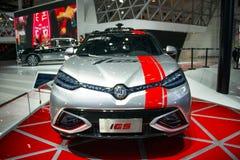 Azië China, Peking, de internationale automobiele tentoonstelling van 2016, binnententoonstellingszaal, het conceptenauto van MG  Stock Afbeelding