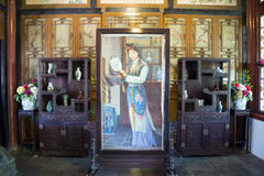 Azië China, Peking, Grote Meningstuin, Binnen, een droom van Rode Herenhuizen, de karaktersscène Stock Foto's