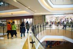 Azië China, Peking, indigo het winkelen plein, binnen de bouw structuur Stock Afbeelding