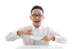 Aziatisch bedrijfsmannetje Stock Foto's