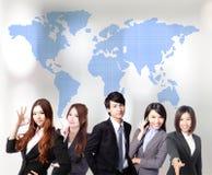 Aziatisch bedrijfsmensenteam Stock Afbeeldingen