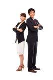 Aziatisch Bedrijfspaar Royalty-vrije Stock Afbeeldingen